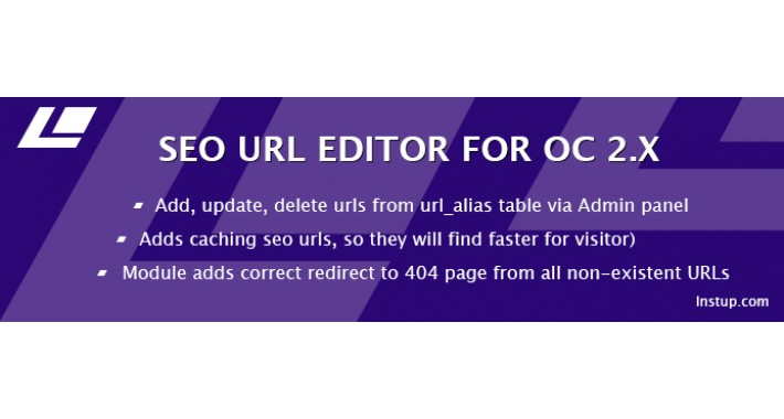 SEO Url Editor for Opencart 2.x