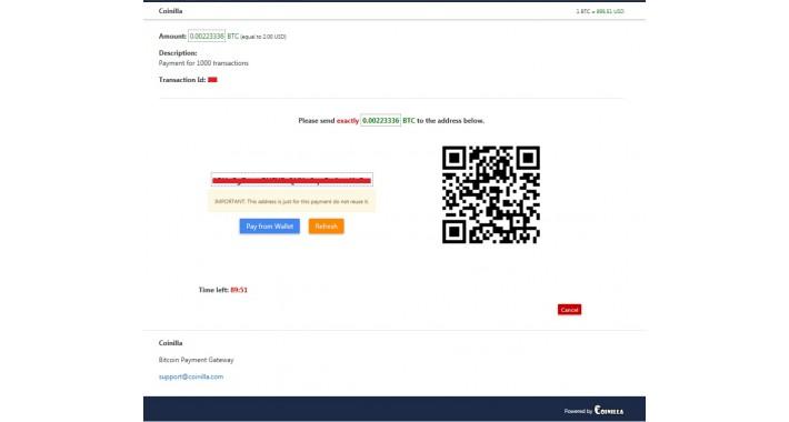 Coinilla (bitcoin payment)
