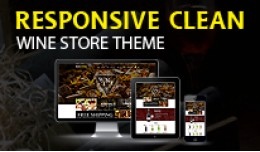 Responsive Clean Wine Store Theme