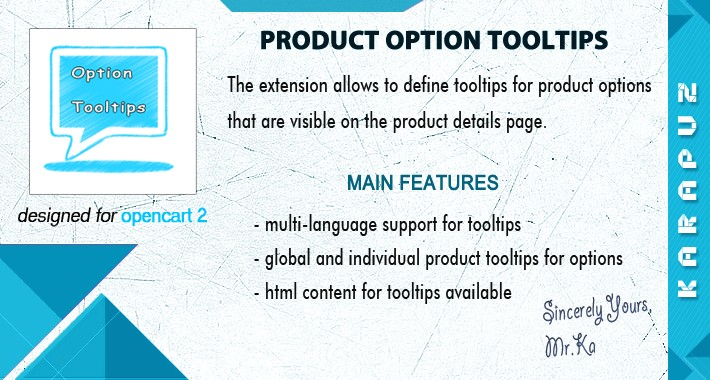Product Option Tooltips (for Opencart 2)