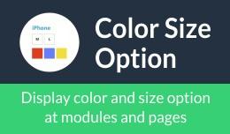 Color Size Option