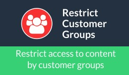 Restrict Customer Groups