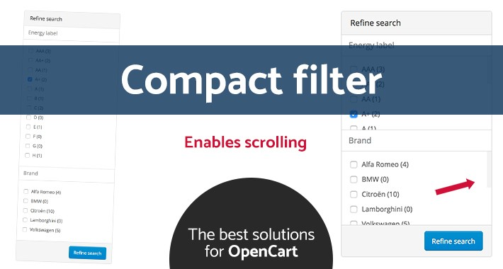Compact filter (OC v2.x/v3.x)
