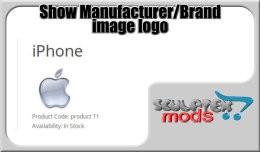 Storefront show manufacturer logo