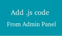 Add Javascript From Admin / Backend