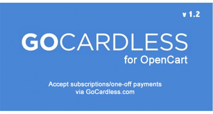 GoCardless for OpenCart 1.5 / 2.x / 3.x