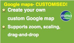 google maps on contact page- customised!