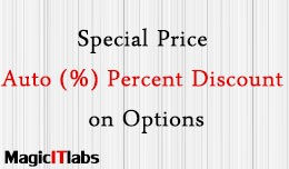 Options Price Auto Percent (%) Discount on Speci..