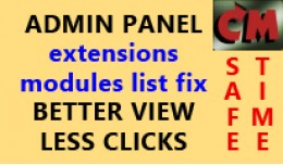 Admin extensions page improvements, show modules..