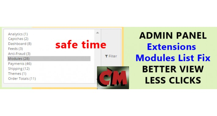 Admin extensions page improvements, show modules by default