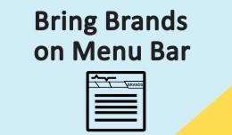 Bring Brands on Menu Bar