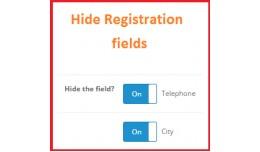 Hide registration fields