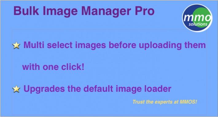 Bulk Image Manager PRO