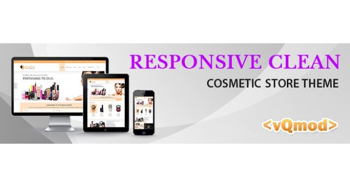 Responsive Clean Organic Cosmetics store Theme
