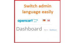 Switch admin language easily