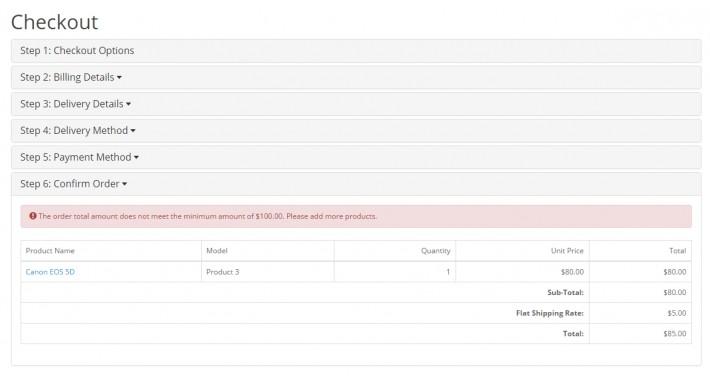 MinMax Order Limit (OpenCart Addon - vQmod)