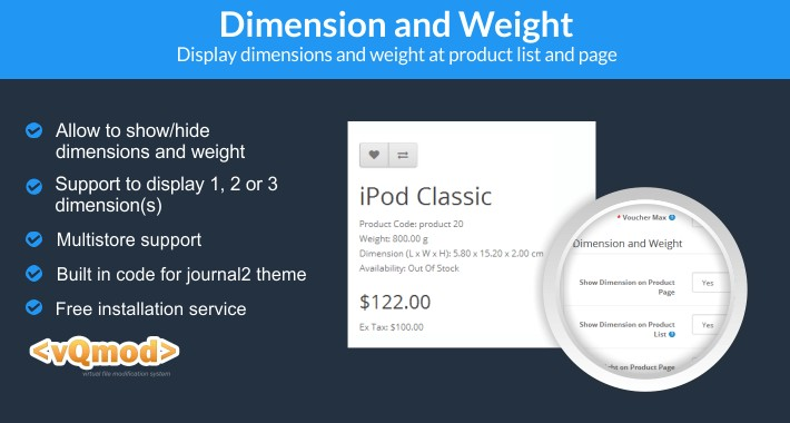 Dimension and Weight
