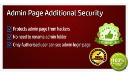 Admin additional Security