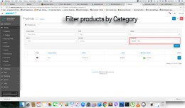 Admin filter product by Category