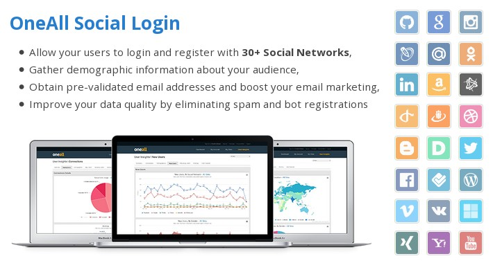 Social Login with 35+ Social Networks