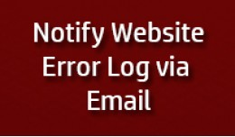Notify Error log on Email
