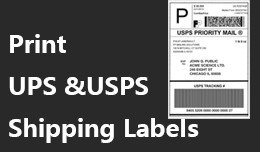 Print Shipping Label (UPS, USPS)