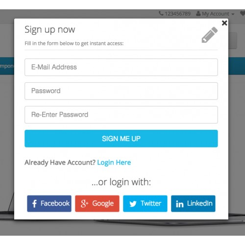 OpenCart - Awesome Login, Signup, Facebook, Google, Twitter