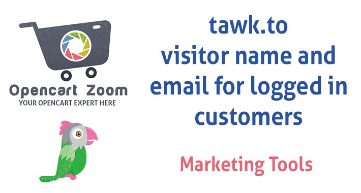 TAWK.TO live chat integration - NAME / EMAIL for logged in