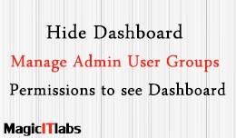 Hide Dashboard/Manage Admin User Groups Permissi..