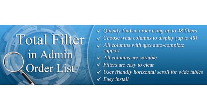 Order List Total Filter (1.5.x - 3.x)
