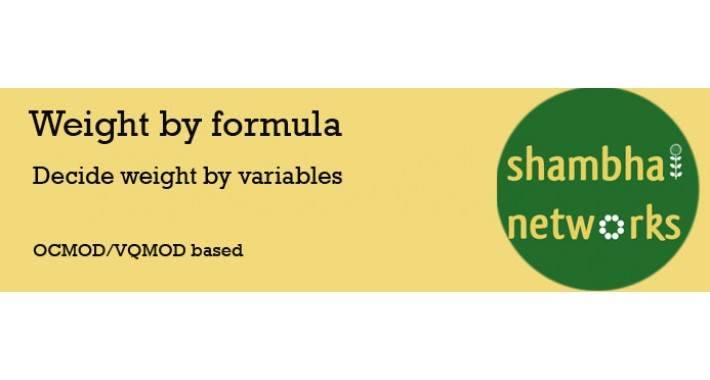 Weight by Formula
