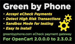 Green by Phone (eCheck Payment Gateway)