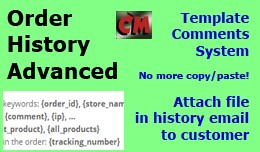Order History Advanced - template comments, file..