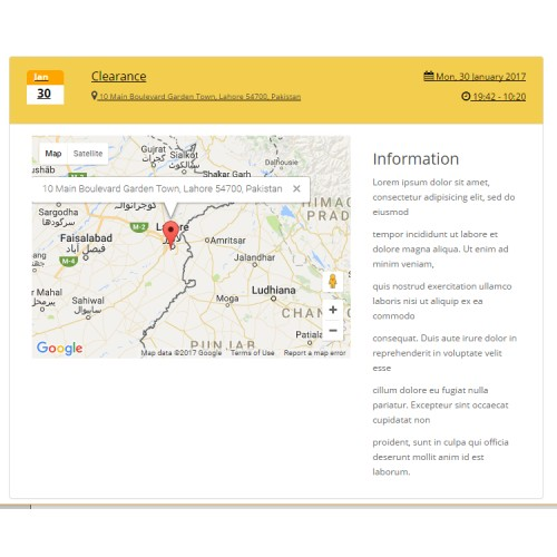 OpenCart - Events Calendar with Google map Locations,Time ... on calendar phone, calendar ipad, calendar iphone, calendar app,