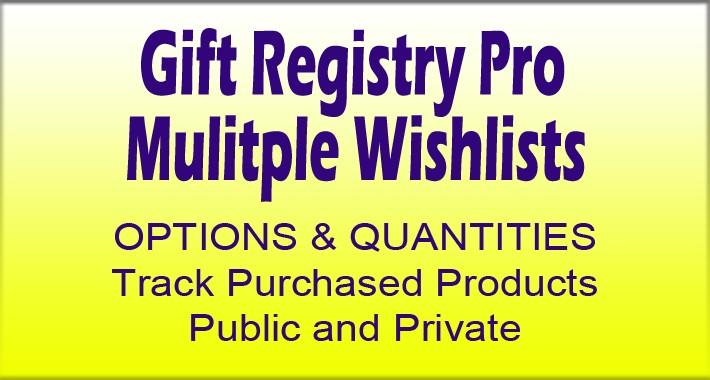 Gift Registry Pro - Multiple Wishlists