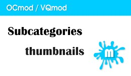 Subcategories thumbnails in refine search
