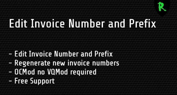 Edit Invoice Number and Prefix