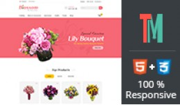 Bossome Flower Opencart Theme - OPCADD028