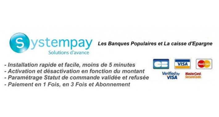 Systempay - Cyberplus - BP-CE - Partenaire Officiel