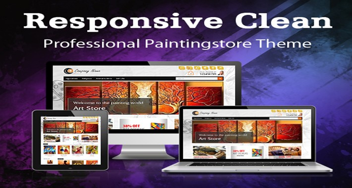 Responsive Clean Professional Paintingstore Theme