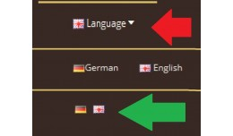GGW language switch - no drop down