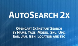 AutoSearch 2x - Opencart 2.x Instant Search