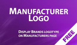 ManufacturerLogo - Show Brands logo on Manufactu..