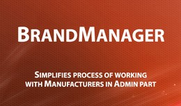 Brand Manager - Improved admin Manufacturer list