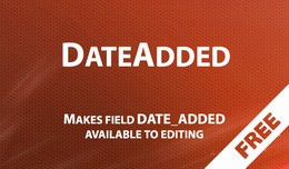 DateAdded - adding field date_added into item card