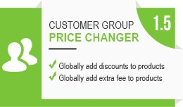 Customer Group Global Price Changer (OC 1.5.x)