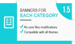 Banners for each category