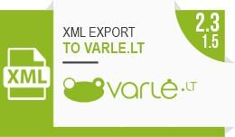 XML prekių eksportas į varle.lt / Product XML ..