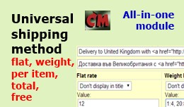 Universal delivery method (flat, weight, item, t..