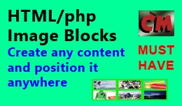 HTML/php Code and Image Blocks anywhere